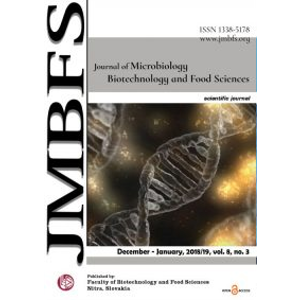 Journal of Microbiology, Biotechnology and Food Sciences